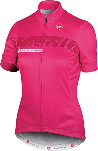 Castelli 2017 Women's Fabulous Short Sleeve Cycling Jersey - A17201 (Raspberry - M) - Metallic Short Sleeve Jersey