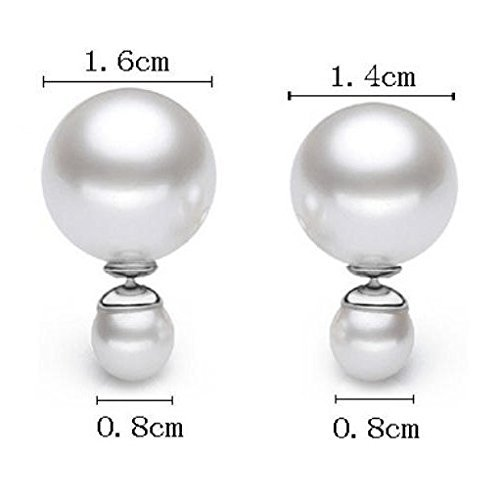 Boucle oreille double perle dior