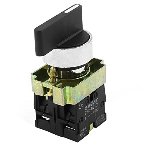 DealMux a14090200ux0565 ZB2-BE101 SPDT 2NO 4 Terminal 3-Position Rotary Selector Switch AC600V 10A