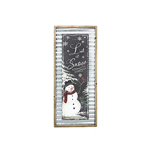 (Youngs Wood Snowman Wall Plaque)