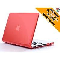 Funda rígida mCover iPearl con cubierta de teclado GRATIS para el modelo A1278 de 13 pulgadas de pantalla regular de aluminio Unibody MacBook Pro - ROJO