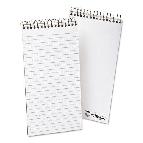 Ampad Recycled Reporters Notebook - Ampad 25281 Earthwise by Ampad Recycled Reporter's Notebook, Pitman Rule, 4 x 8, WE, 70 SH