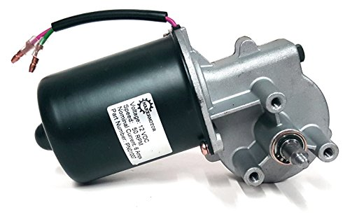 Makermotor 10mm 2-flat Shaft 12V DC Reversible Electric Gear Motor 50 RPM