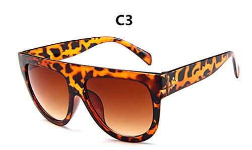 mujer Frame Diseño sol C3 de de Full C6 lujo gafas Gafas gafas de Vintage gafas sol la ZHANGYUSEN de Gran marca Mujer qdazxq