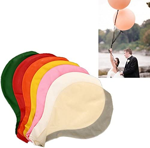 COM-SHOT 【 サイズ 約 80cm 】 超 巨大 風船 【 10個 セット 】 イベント 結婚式 お祝い 2次会 お祭り 子供 MI-KYOBA