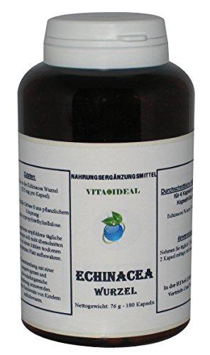 Echinacea (Roter Sonnenhut), 180 Kapseln je 350 mg mit rein natürlichen Pulver, ohne Zusatzstoffe
