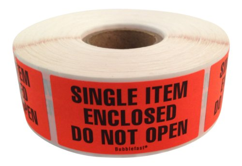 2' 500 Label (Single Item Enclosed Do Not Open Labels 500/roll 1
