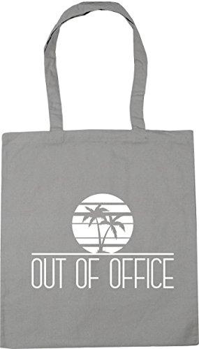 Bag Of Office x38cm litres 10 Tote Gym Beach Shopping 42cm Grey HippoWarehouse Light Out AwfxWna4