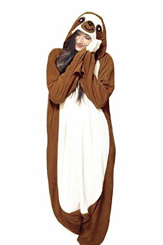Jormarcos Adult Unisex Animal Cosplay Pajamas New Sloth Costumes Homewear Onesie ()
