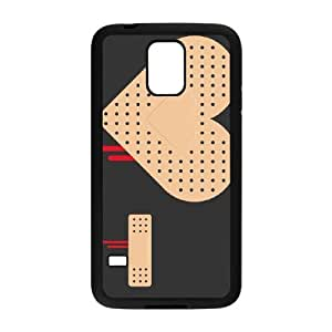 Samsung Galaxy S5 Cell Phone Case Black_HEART BAND AID FY1380401