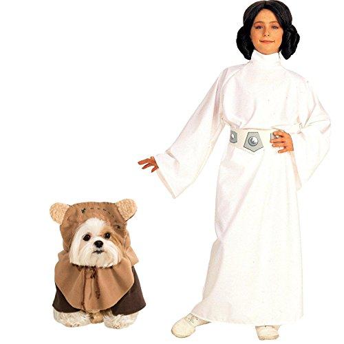 [Star Wars Princess Leia Child Small Ewok Pet Large Bundle Set] (Leia Costume Ewok)