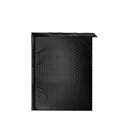 """Forlei 100 Pieces - #2 8.5"""" x 12"""" Premium Black Color Self Seal Poly Bubble Mailers Padded Shipping Envelopes Tear-Proof, Water-Resistant and Postage-Saving Lightweight"""