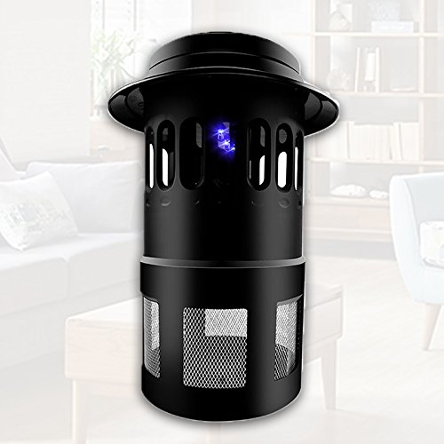 Smoke Rings Single Hook (iGrove 4 LED Electric Mosquito Fly Pest Bug Insect Zapper Killer With Fan Trap NEW Design Black Decrease Bug Mosquito Light Easy Protection N-B16)