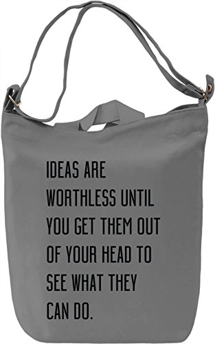 Make Ideas Happen Borsa Giornaliera Canvas Canvas Day Bag| 100% Premium Cotton Canvas| DTG Printing|