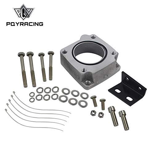 PQYRACING Front Facing Intake Manifold Original Throttle Body Adaptor Kit Throttle Body Plate Compatible FOR New R33 RB25DET Skyline