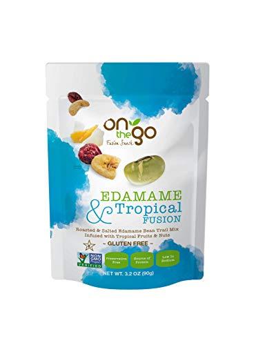 On The Go Fusion Snacks, Edamame & Tropical Trail Mix – Non GMO, Gluten Free, Preservative Free, Low in Sodium – 3.2 OZ…