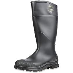 "Servus Comfort Technology 14"" PVC Steel Toe Men's Work Boots, Black (18821)"