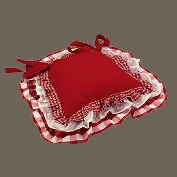 Galette De Chaise Vichy Rougebordeaux Amazonfr Cuisine Maison