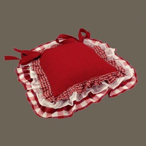 Galette De Chaise Vichy Rouge Bordeaux Amazonfr Cuisine Maison