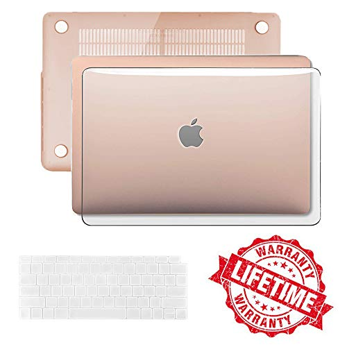2018 New MacBook Air 13 Inch Case A1932,IC ICLOVER Transparent Crystal Clear Hard Shell Cover + Keyboard Cover Only Compatible with Apple MacBook Air 13.3