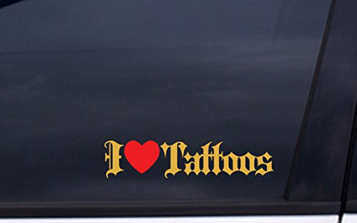 (I LOVE TATTOOS vinyl Sticker 2