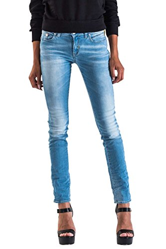 MeltinPot - Jeans MADOLINE D2023-UK441 pour femme, style skinny, taille skinny, taille normale
