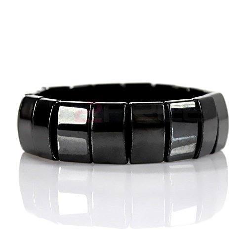 Unisex Men's Women's Magnetic Hematite Bracelet Pain Relief Energy Powerful Elastic ()