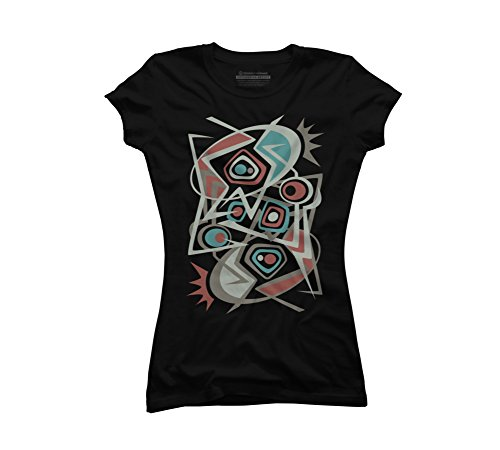 Martini Jazz Juniors' X-Large Black Graphic T Shirt - Design By (7 Martini Lounge)
