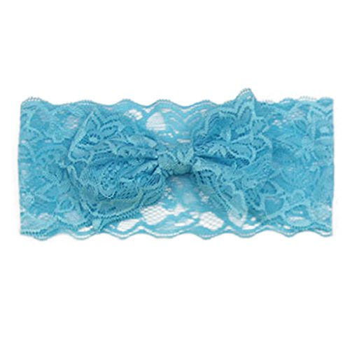 Blue Sky Carrier (Tenworld Fashion Baby Girls Lace Big Bow HairBand Head Wrap Band Accessories (Sky Blue))