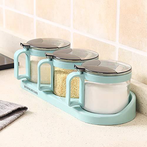 heaven2017 Spice Jar Condiment Storage Seasoning Bottle Container Condiment Pot Double Jar by heaven2017 (Image #3)