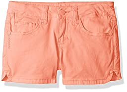Celebrity Pink Little Girls\' Twill Shorts, Coral, 6x