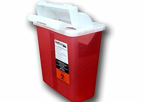 5 Quart Size | Sharps Disposal Container with Kendall Style Lid | OakRidge Products ()