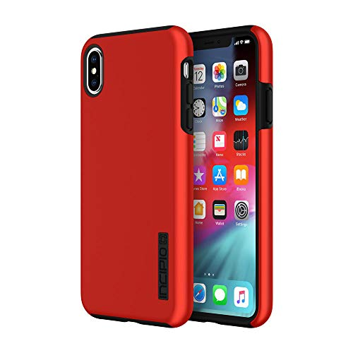 """Incipio DualPro Dual Layer Case for iPhone Xs Max (6.5"""") with Hybrid Shock-Absorbing Drop Protection - Iridescent Red/Black from Incipio"""