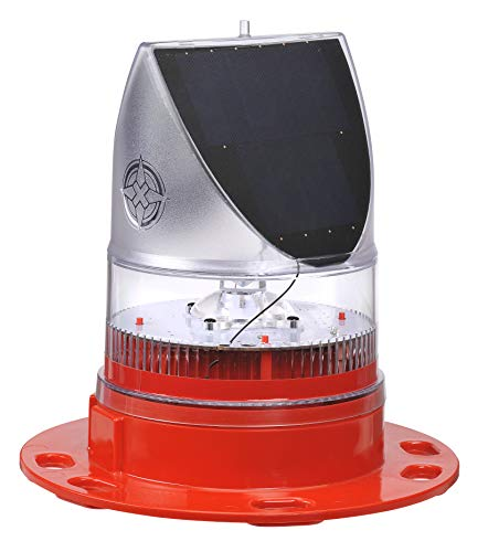 (Solar LED Obstruction Light Avlite AV-OL-70-R Self Contained Low Intensity FAA AC150/5370-2E Compliant)