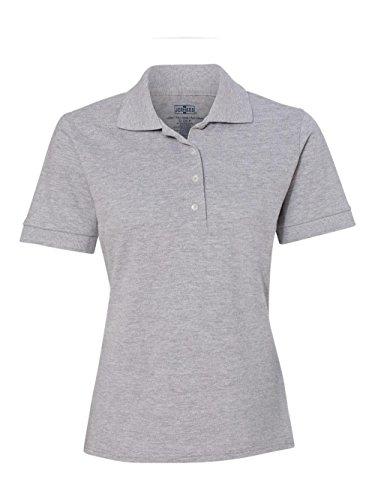 440 Golf (440W - Large - Sports grey 6.5 oz Cotton Pique Ladies Polo)