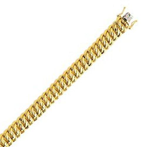 Ysora - Bracelet Or Avec Mailles Américaines - 750 ‰ - 18cm