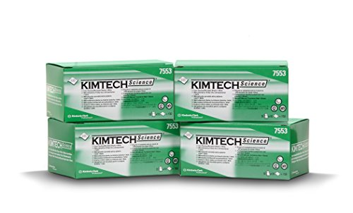 Kimberly-Clark Kimtech Science Disposable Delicate Task Wipers: High-Quality Microfiber Material, Individually packed. 3.1 x 3.9 in. (8x10cm) 600 count. (4 boxes) Works magic for any lens, glass, (Lint Free Tissue)