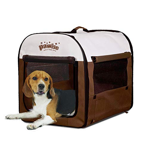 PAWISE Folding Soft Dog Crate Pet Kennel Houses Pens Indoor & Outdoor (Medium)