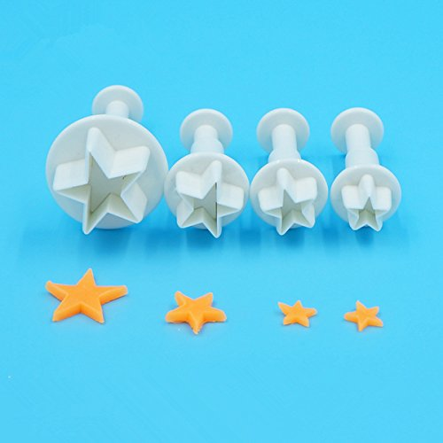 Bubble Guppies Costume Diy (4Pcs/Set Mini Star Fondant Cake Decorating Plunger Biscuit Cookies Cutter Diy Mold Christmas Cake Decorating Tools)