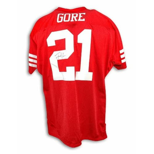 factory price c7cbd 99018 Autographed Frank Gore San Francisco 49ers Red Throwback ...