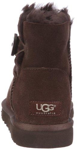 UGG Mini Bailey Button - Botas para mujer Chocolate