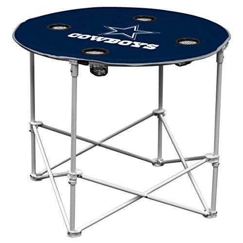 Dallas Cowboys  Collapsible Round Table with 4 Cup Holders and Carry (Tailgate Decor)