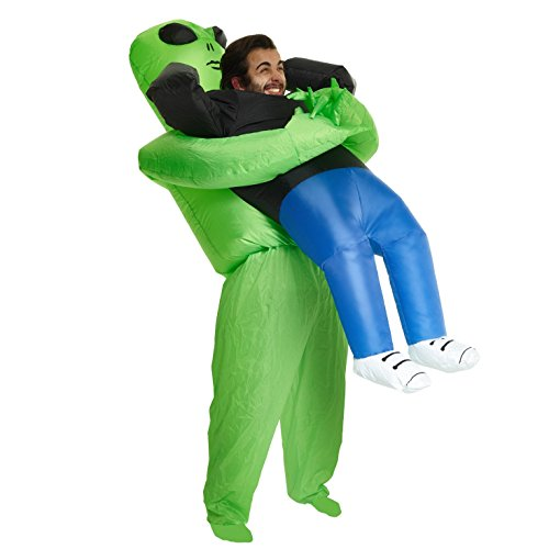 Morph Alien Pick Me up Inflatable Blow up Costume - One Size fits Most