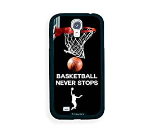 Cool Painting Galaxy S4 Case - S IV Case - Shawnex Basketball Never Stops Samsung Galaxy i9500 Case Snap On Case