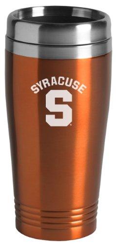 Syracuse University - 16-ounce Travel Mug Tumbler - Orange by LXG, Inc. (Image #1)