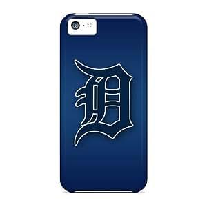 Qqoo Iphone 5c Hybrid Tpu Case Cover Silicon Bumper Detroit Tigers