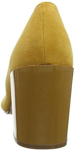 Pump 721 Suede mustard Escarpins Fermé Jaune Femme Bout Bianco FAHqww