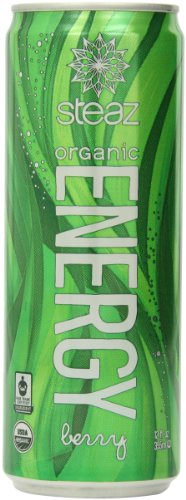 Steaz Energy Drink, Berry, 12-Ounce Cans (Pack of 24)