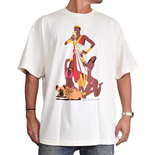 LRG Men's King Jaffe T Shirt, Cream, L -