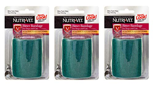 Petflex Tape - Nutri-Vet 3 Pack of Bitter Bandage for Pets, 2 Inches Wide, Discourages Chewing